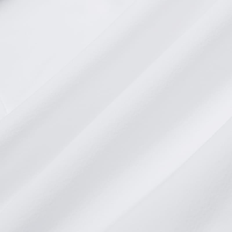 Leeward Formal Dress Shirt - White Solid, fabric swatch closeup