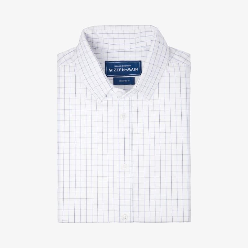 Leeward Dress Shirt - Light Blue Check, featured product shot