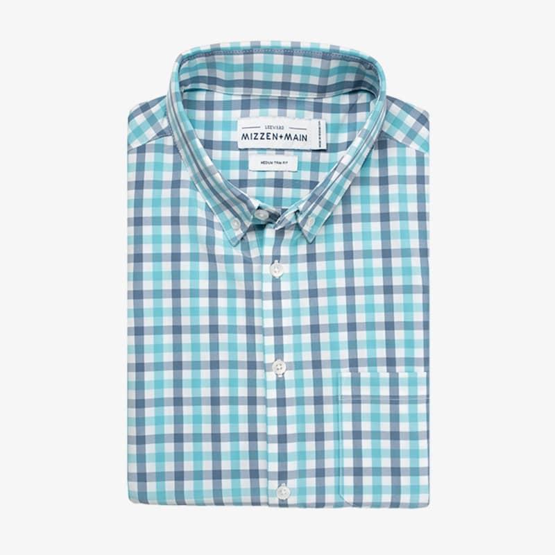 Leeward Short Sleeve - Green Stripe, featured product shot