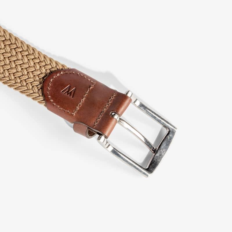 Belt - Khaki / Brown, fabric swatch closeup