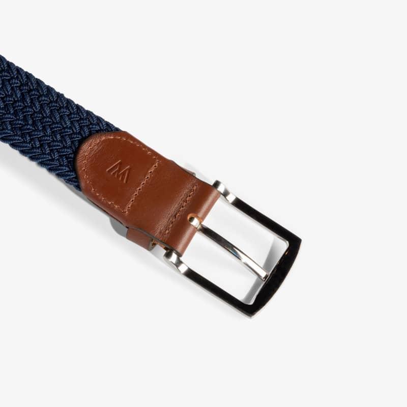 Belt - Navy / Tan, fabric swatch closeup