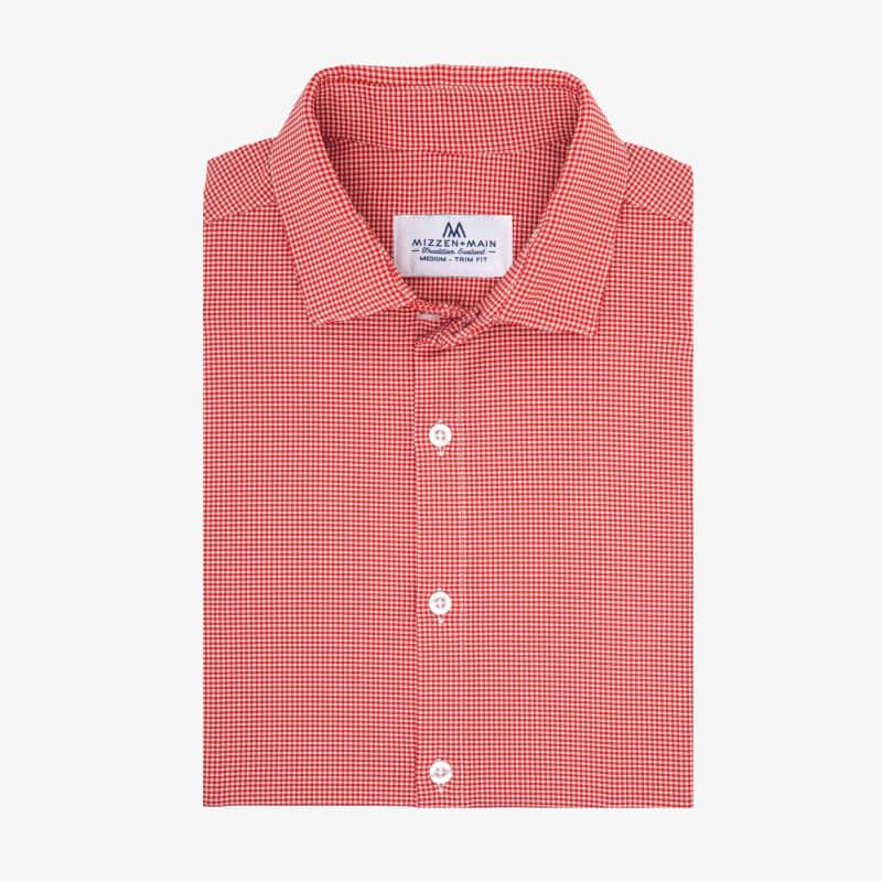 Spinnaker Dress Shirt - Red Gingham, featured product shot
