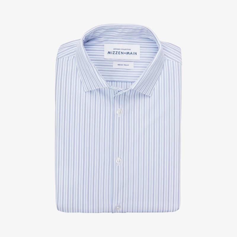 Leeward Dress Shirt - Blue Stripe, featured product shot