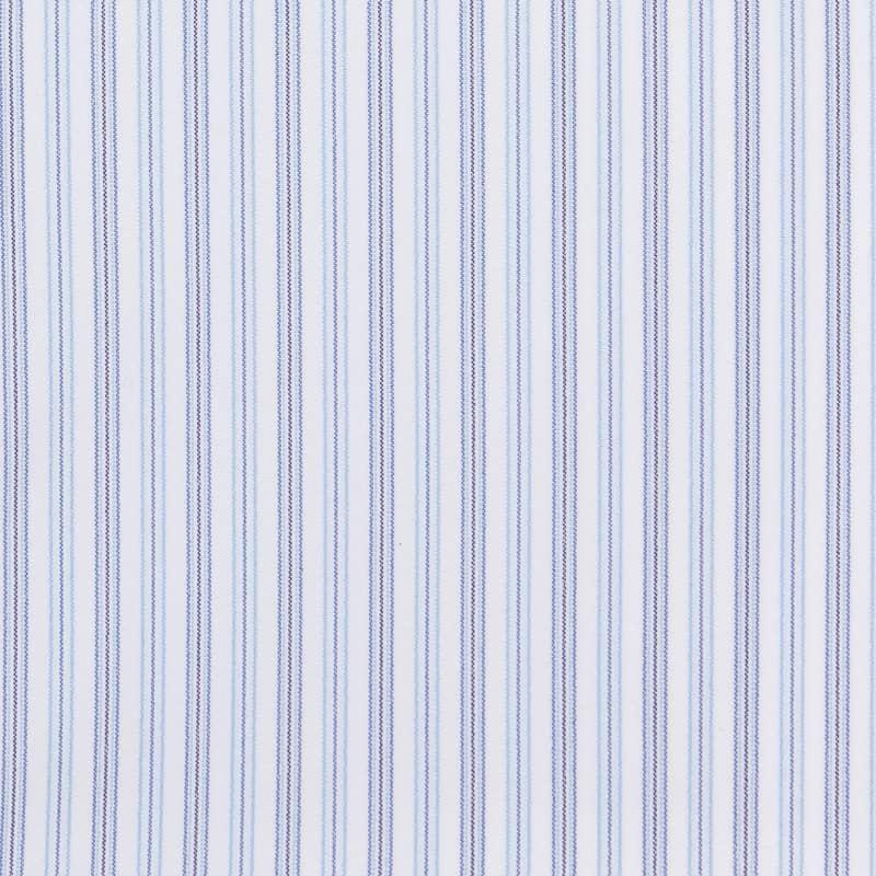 Leeward Dress Shirt - Blue Stripe, fabric swatch closeup