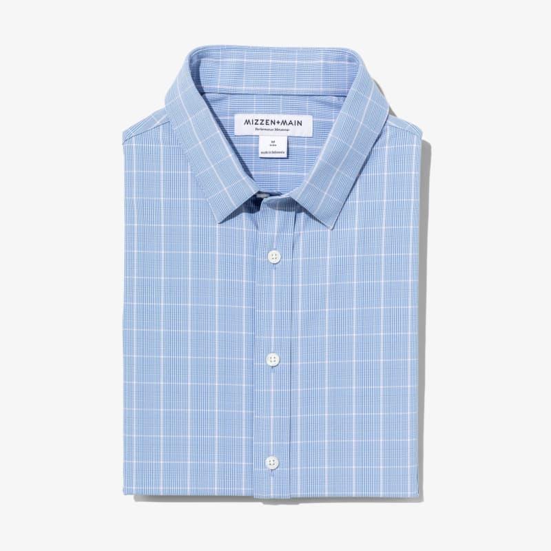 Leeward Dress Shirt - Blue Pink GlenPlaid, featured product shot
