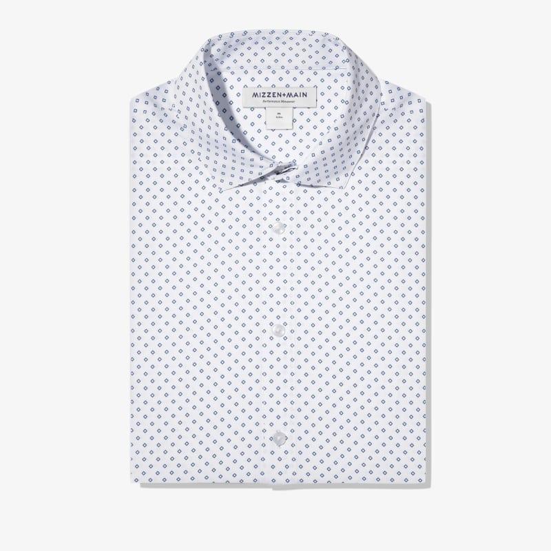 Leeward Dress Shirt - Navy Diamond Print, featured product shot