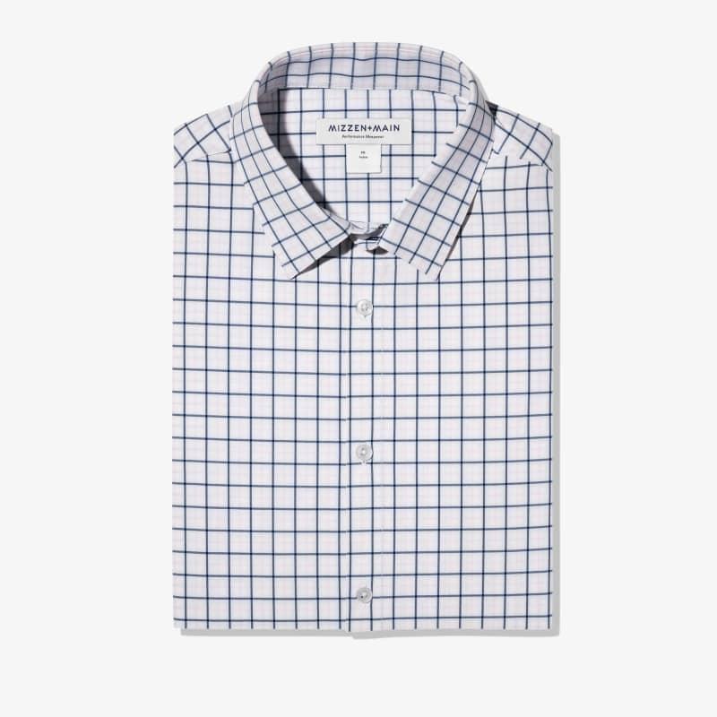 Leeward Dress Shirt - Pink Blue Tattersall, featured product shot