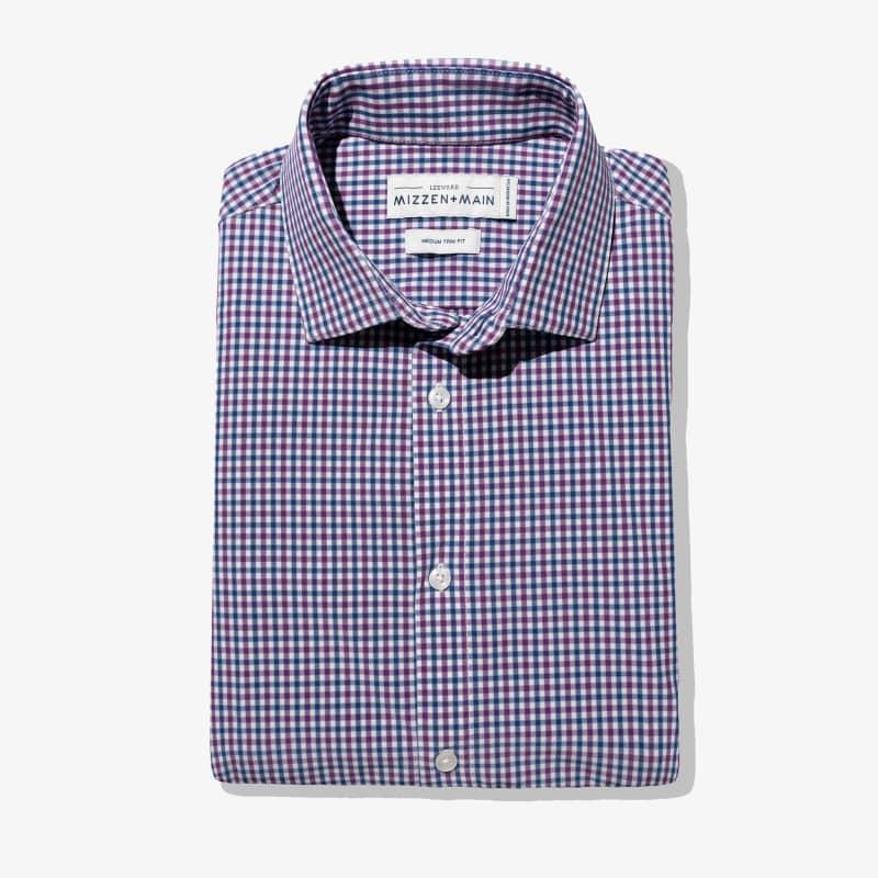 Leeward Dress Shirt - Purple Blue MultiCheck, featured product shot