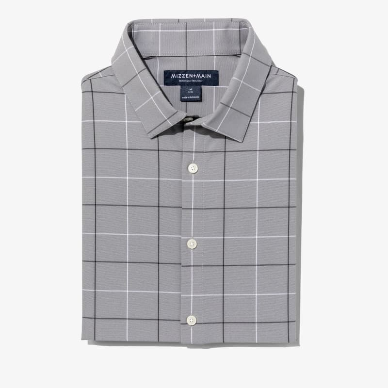 Leeward Dress Shirt - Gray Black LargeCheck, featured product shot