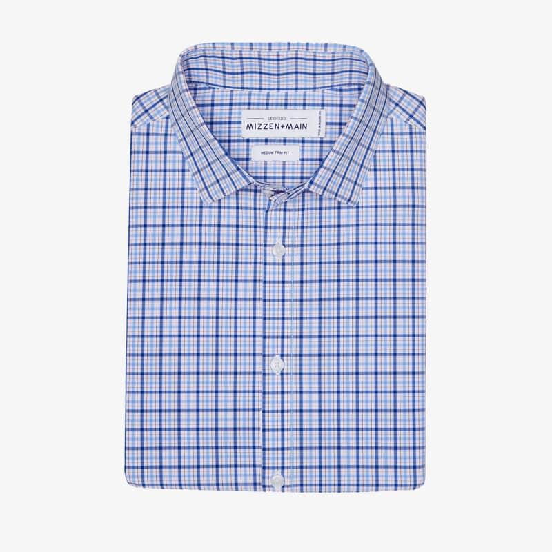 Leeward Dress Shirt - Blue Multi Plaid, featured product shot