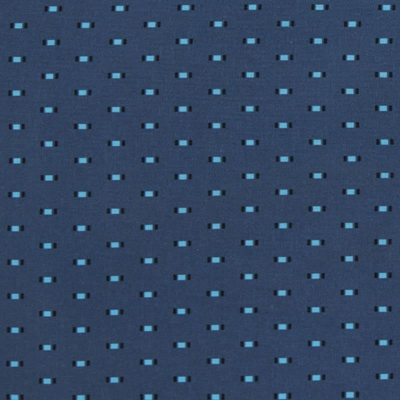 Leeward Short Sleeve - Navy Print, fabric swatch closeup