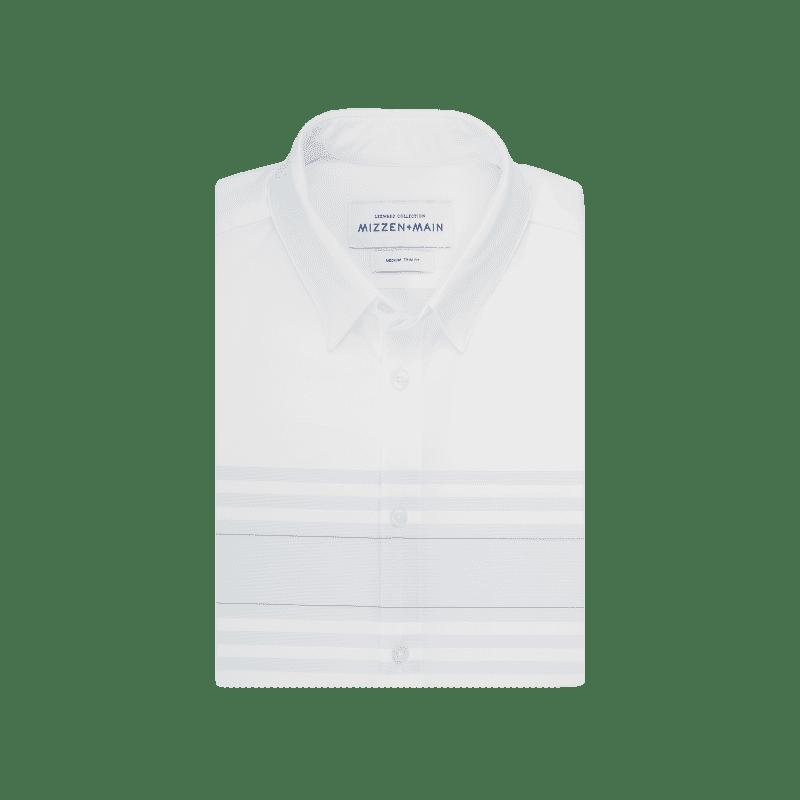 Leeward Short Sleeve - White Horizontal Stripe, featured product shot