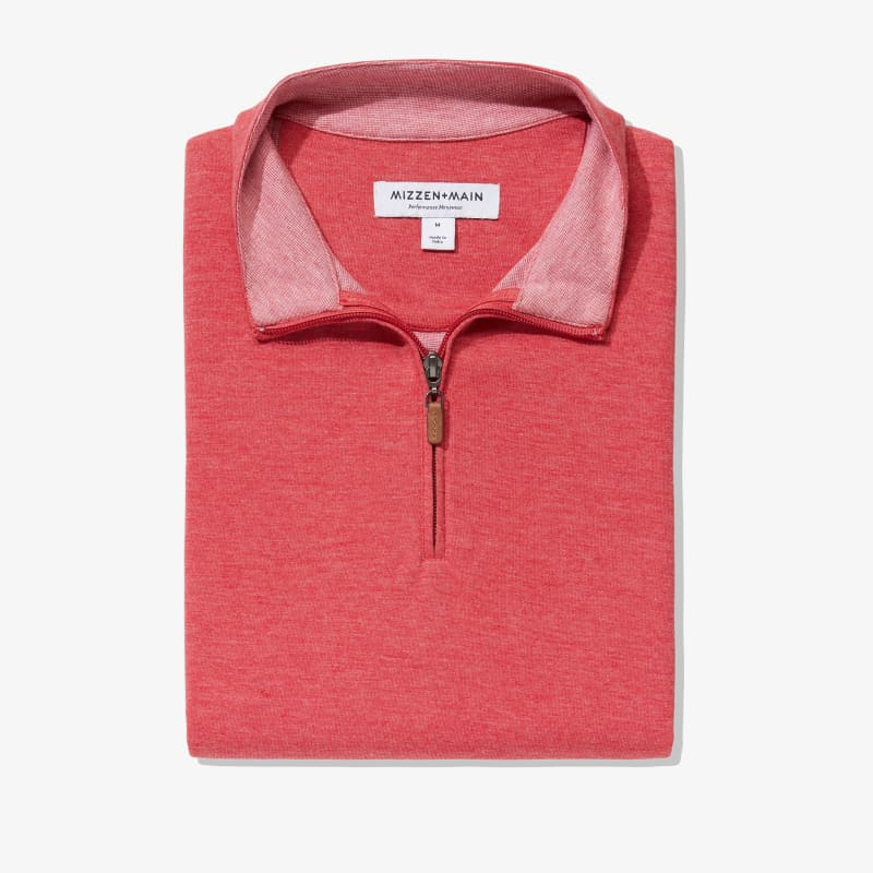 Fairway Pullover - Berry Red Heather, featured product shot