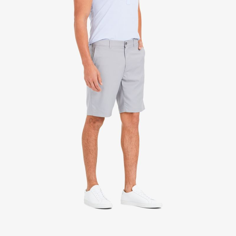 Baron Shorts - Ash Gray Solid, lifestyle/model