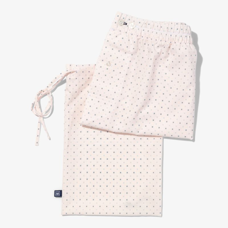 Leeward Boxer - Pink Check With Print, lifestyle/model