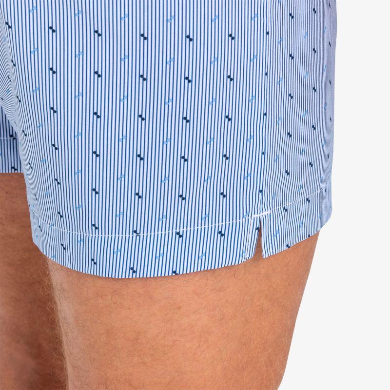 Leeward Boxer - Navy Printed Stripe, lifestyle/model