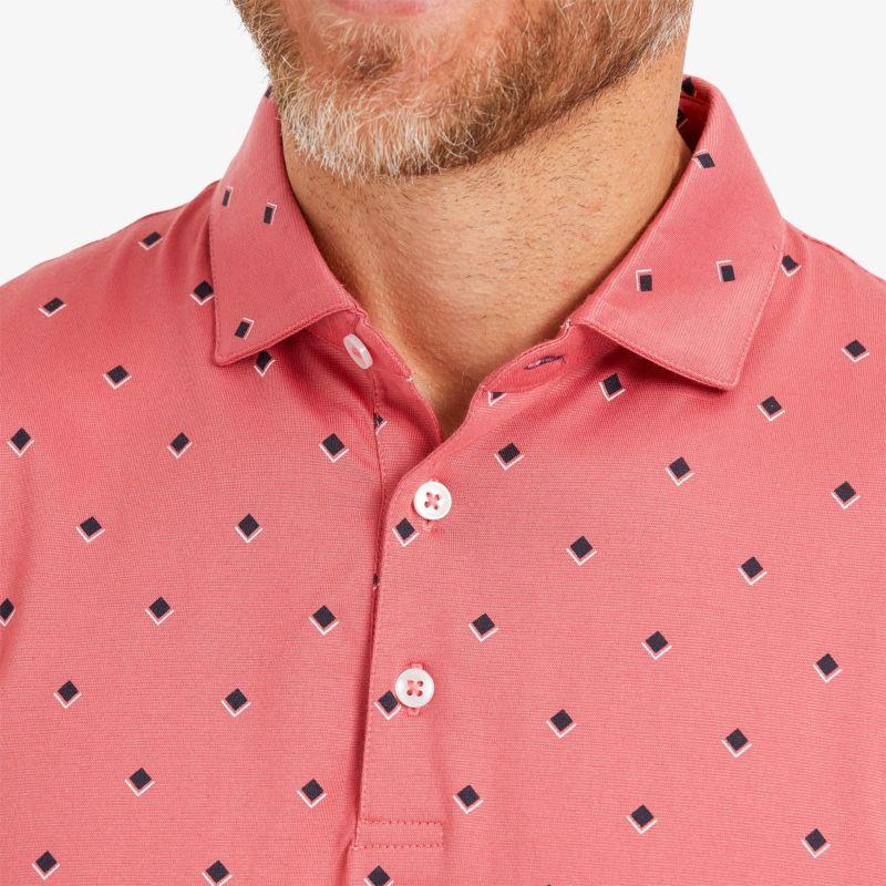 Wilson Polo - Berry Red DiamondPrint, lifestyle/model