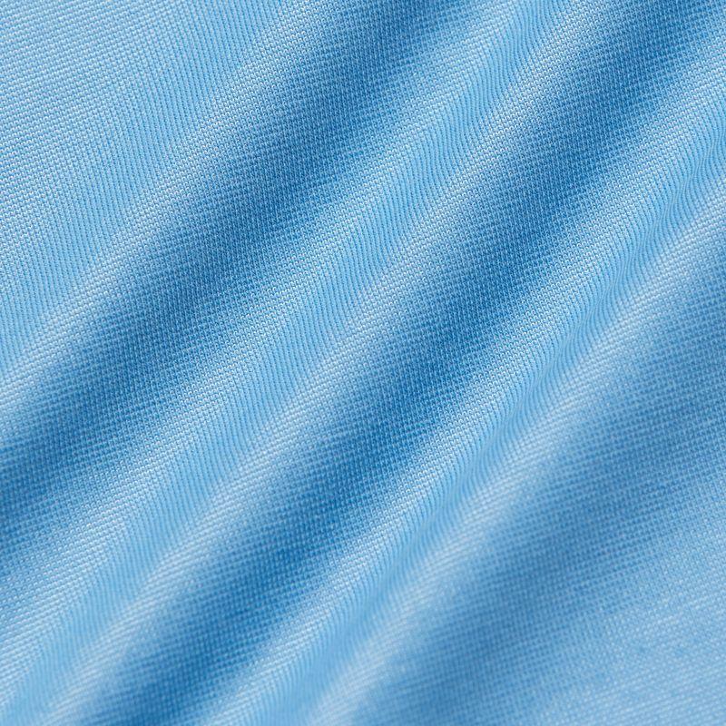 Wilson Long Sleeve Polo - Light Blue Solid, fabric swatch closeup