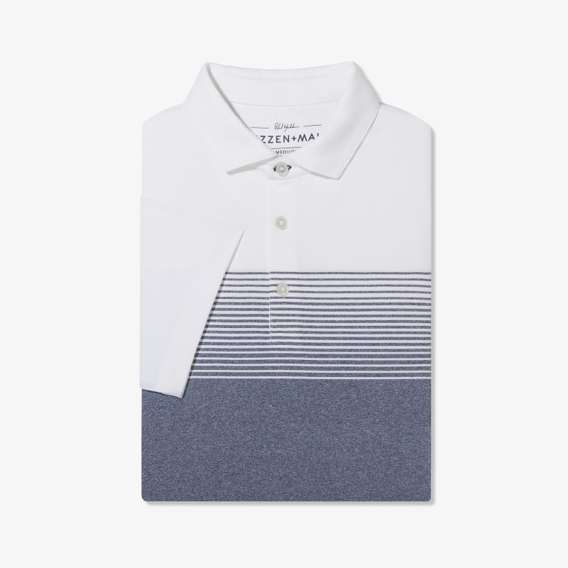 Phil Mickelson Polo - Navy White Stripe, featured product shot