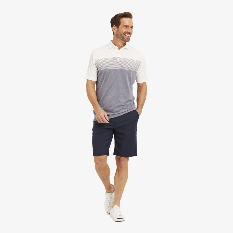 Phil Mickelson Polo - Navy White Stripe, lifestyle/model