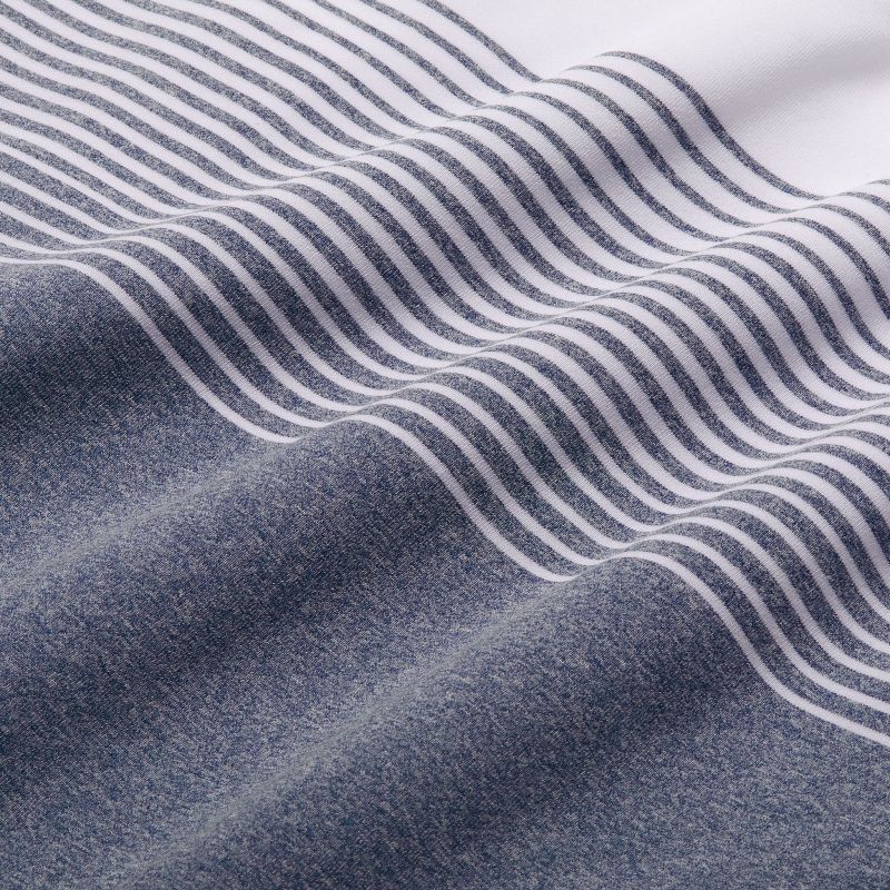 Phil Mickelson Polo - Navy White Stripe, fabric swatch closeup