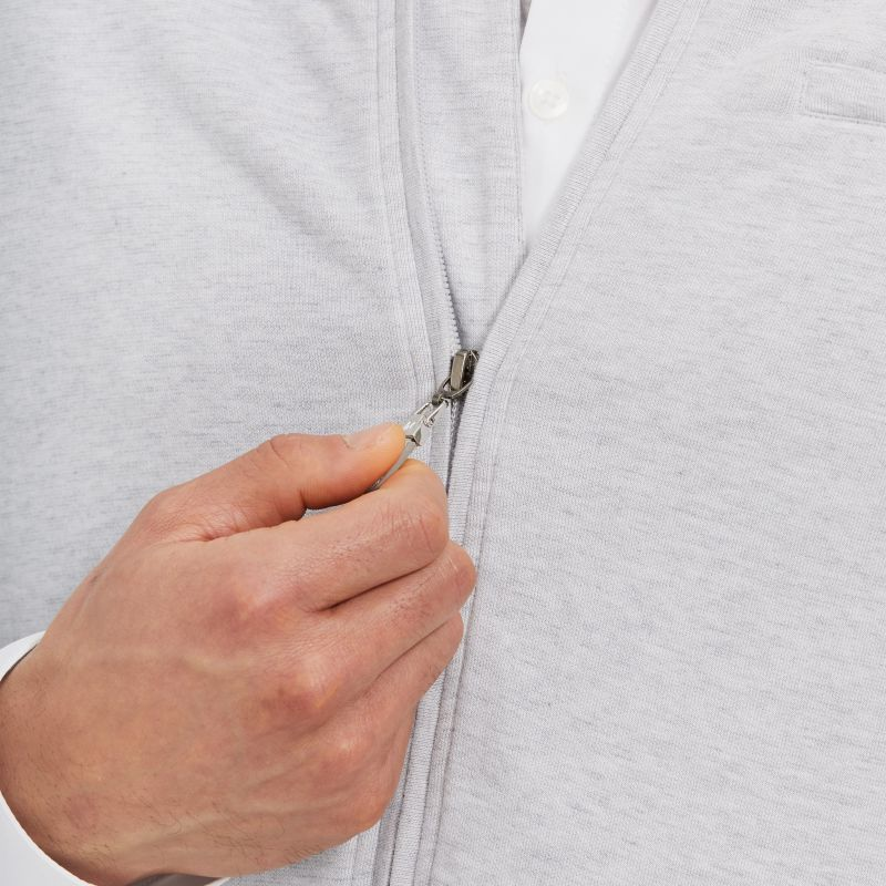 Fairway Bomber - Light Gray Heather, lifestyle/model