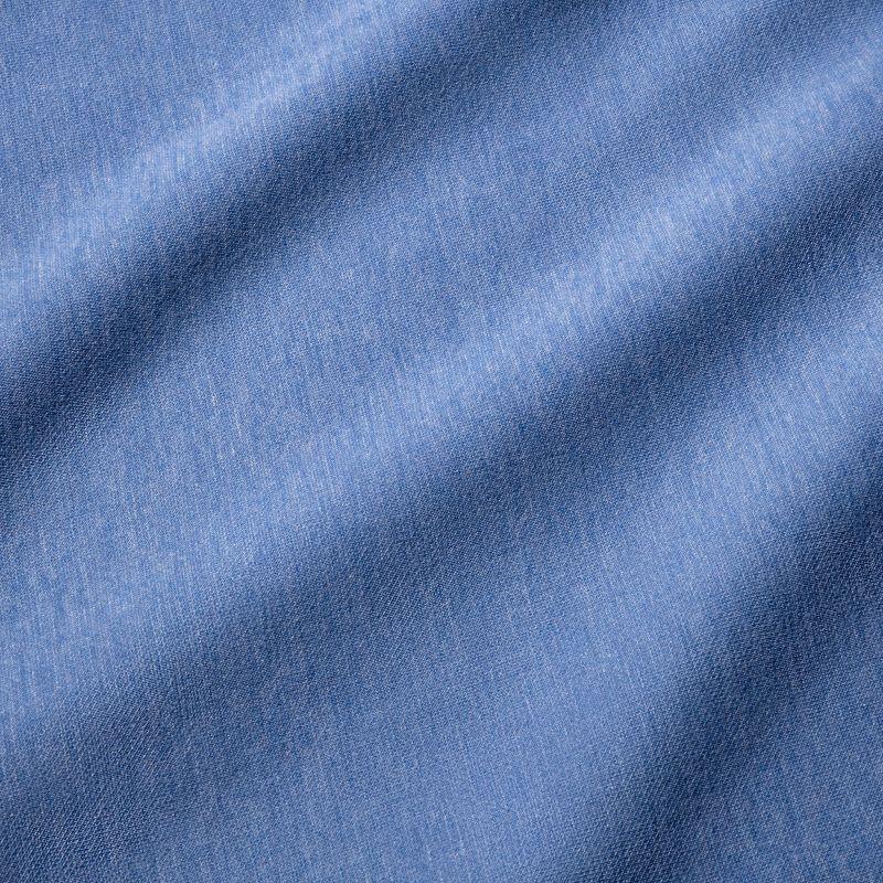 Fairway Hooded Henley - Light Blue Heather, fabric swatch closeup