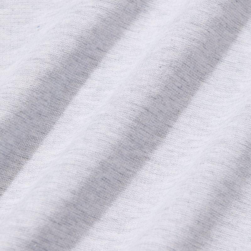 Fairway Hooded Henley - Light Gray Heather, fabric swatch closeup