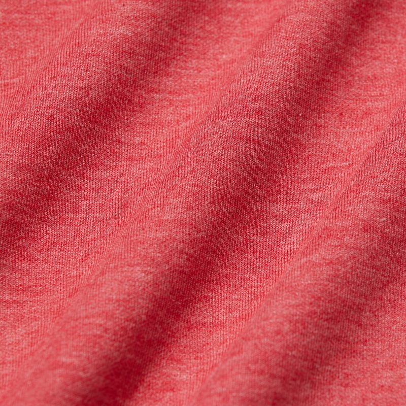 Fairway Pullover - Berry Red Heather, fabric swatch closeup