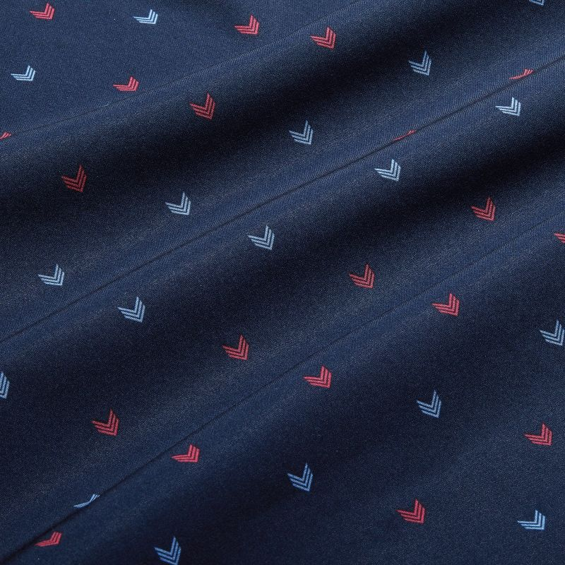 Lightweight Leeward Dress Shirt - Red And Navy ArrowPrint, fabric swatch closeup