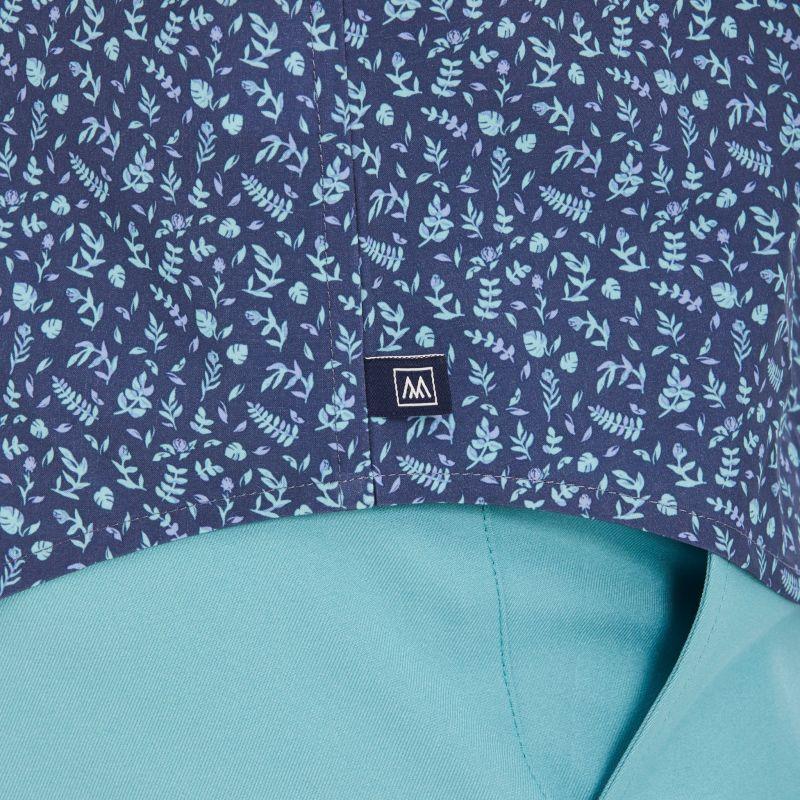 Leeward Short Sleeve - Navy Aqua FloralPrint, lifestyle/model