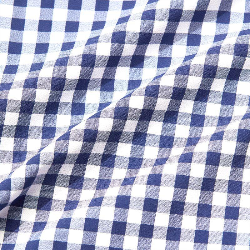 Leeward Dress Shirt - Cobalt Blue Gingham, fabric swatch closeup