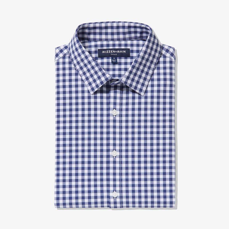 Leeward Dress Shirt - Cobalt Blue Gingham, featured product shot