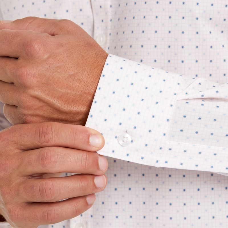 Leeward Dress Shirt - Pink Check WithPrint, lifestyle/model