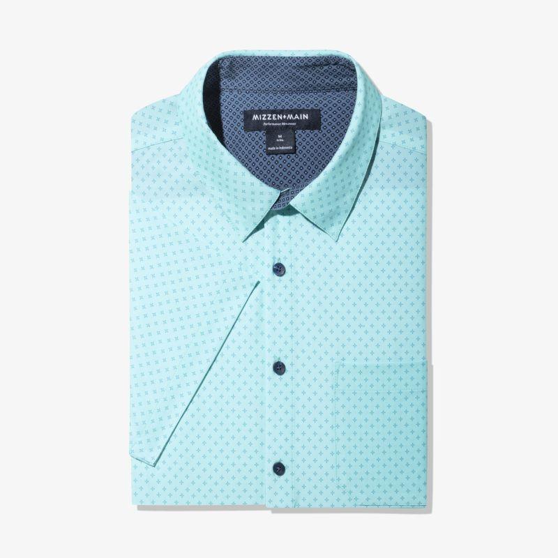 Leeward Short Sleeve - Sea Blue StarPrint, featured product shot