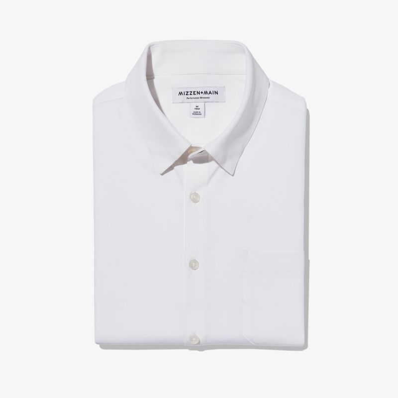 Leeward Casual Dress Shirt - White Solid, featured product shot