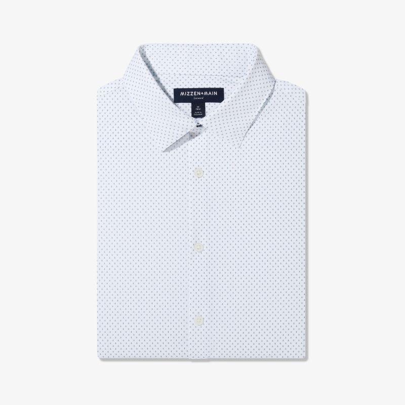 Lightweight Leeward Dress Shirt - Light Blue And White Circle GeoPrint, featured product shot