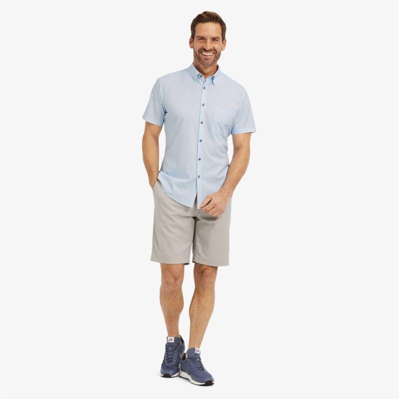 Leeward Short Sleeve - Light Blue GeoPrint, lifestyle/model