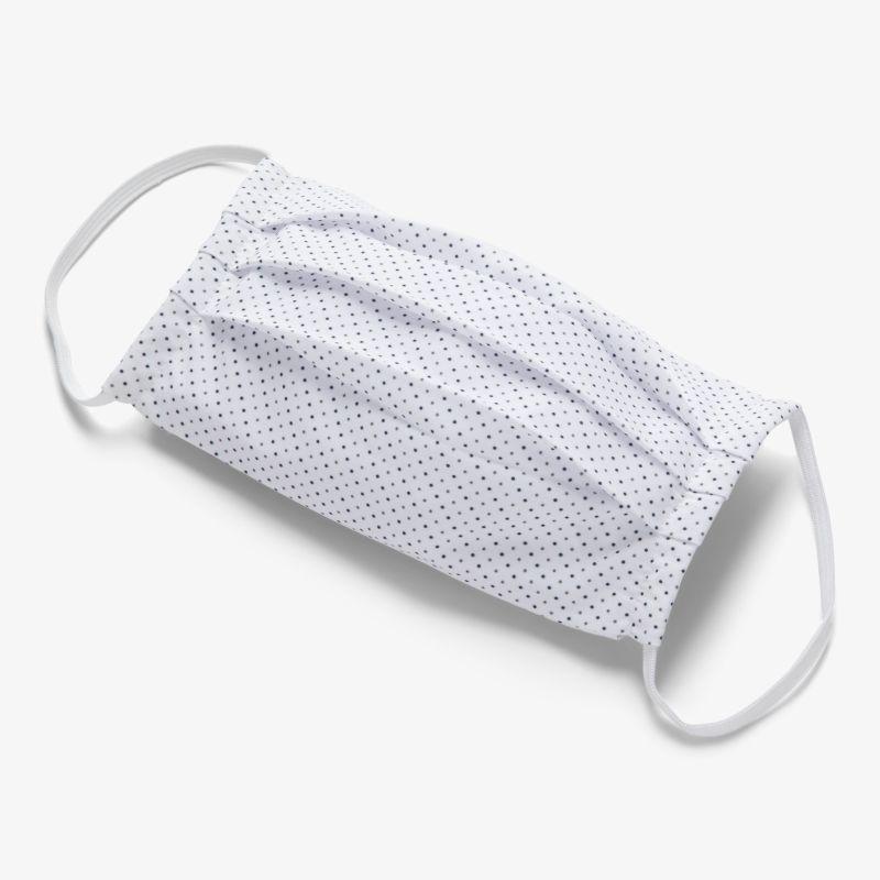 Leeward Mask - White Black Gray DotPrint, fabric swatch closeup