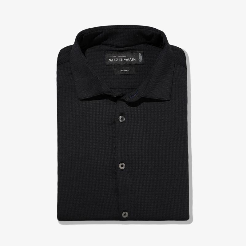 Spinnaker Dress Shirt - Black Solid, featured product shot