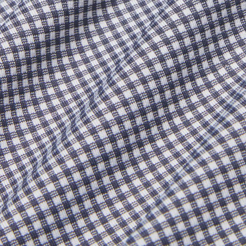Spinnaker Dress Shirt - Gray Mini Gingham, fabric swatch closeup