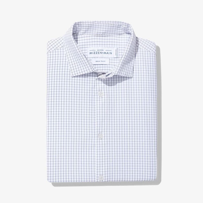Leeward Dress Shirt - Navy Grid, featured product shot