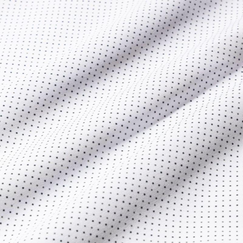 Leeward Dress Shirt - Navy Gray DotPrint, fabric swatch closeup