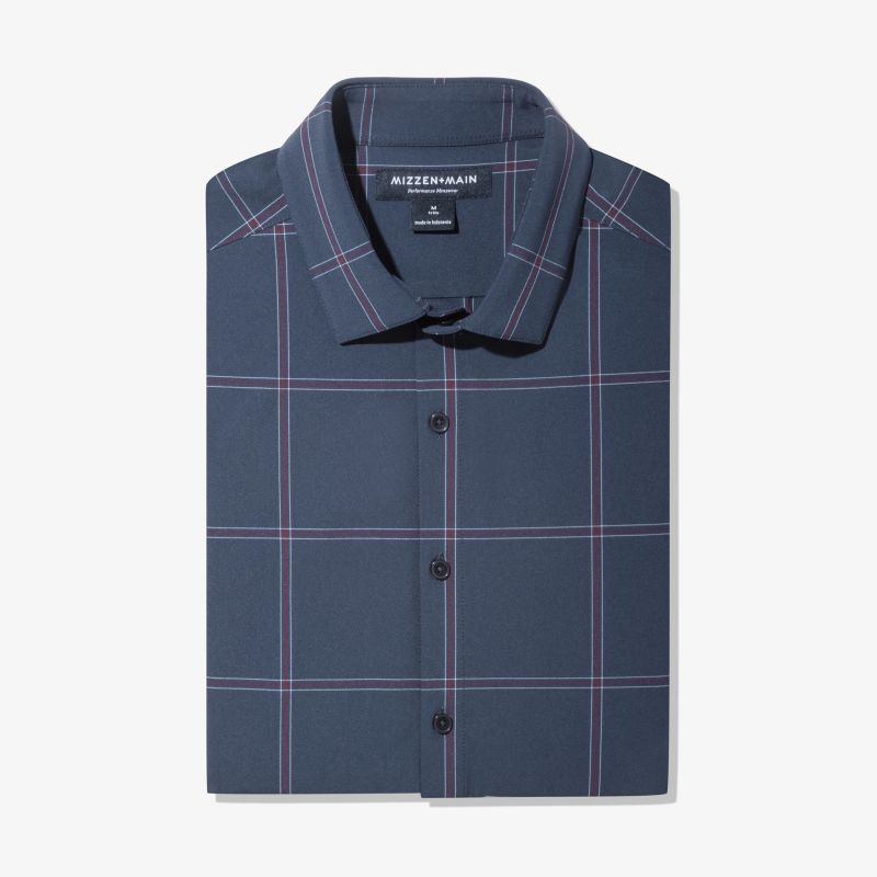 Leeward Dress Shirt - Navy Large Windowpane, featured product shot
