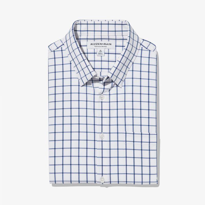 Leeward Casual Dress Shirt - Dark Blue Windowpane, featured product shot