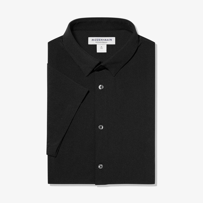 Leeward Short Sleeve - Black Solid, featured product shot
