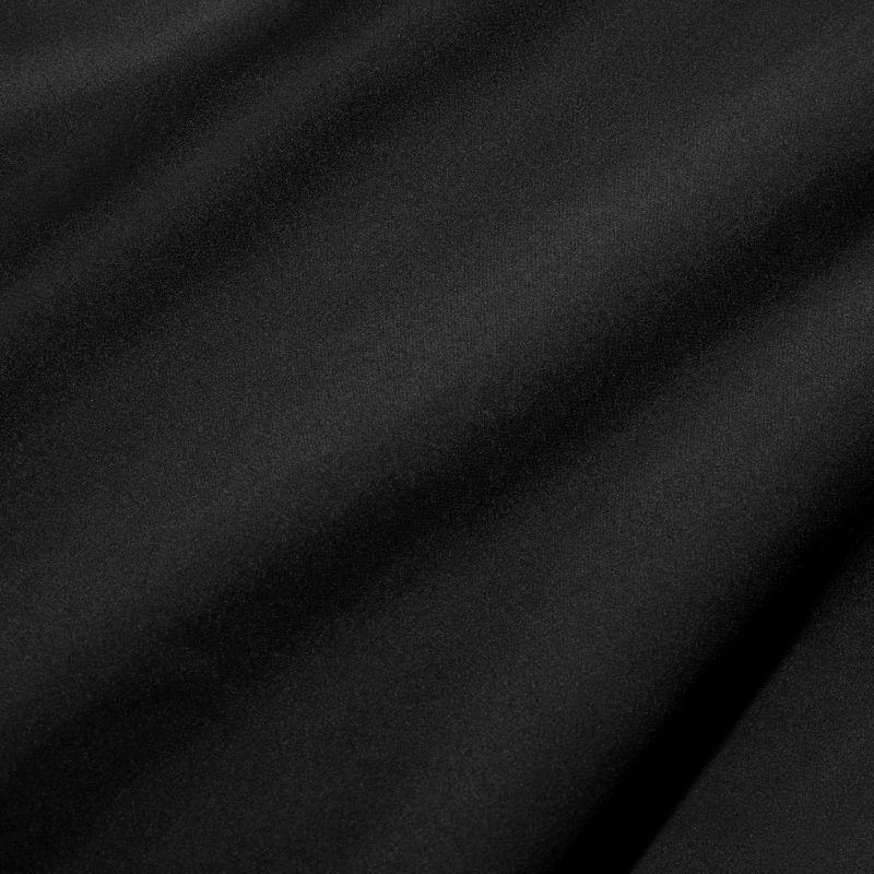 Leeward Short Sleeve - Black Solid, fabric swatch closeup