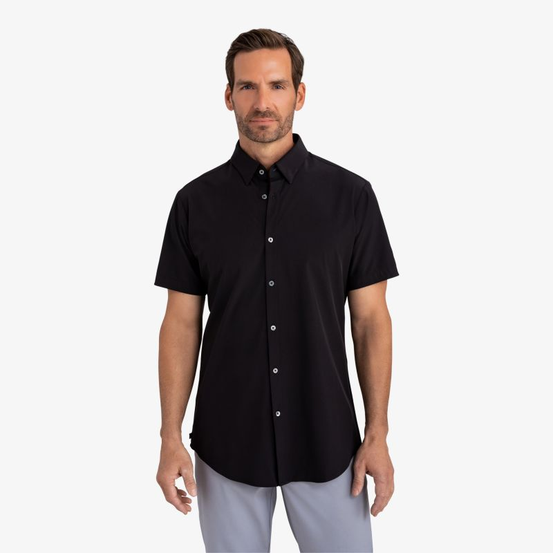 Leeward Short Sleeve - Black Solid, lifestyle/model