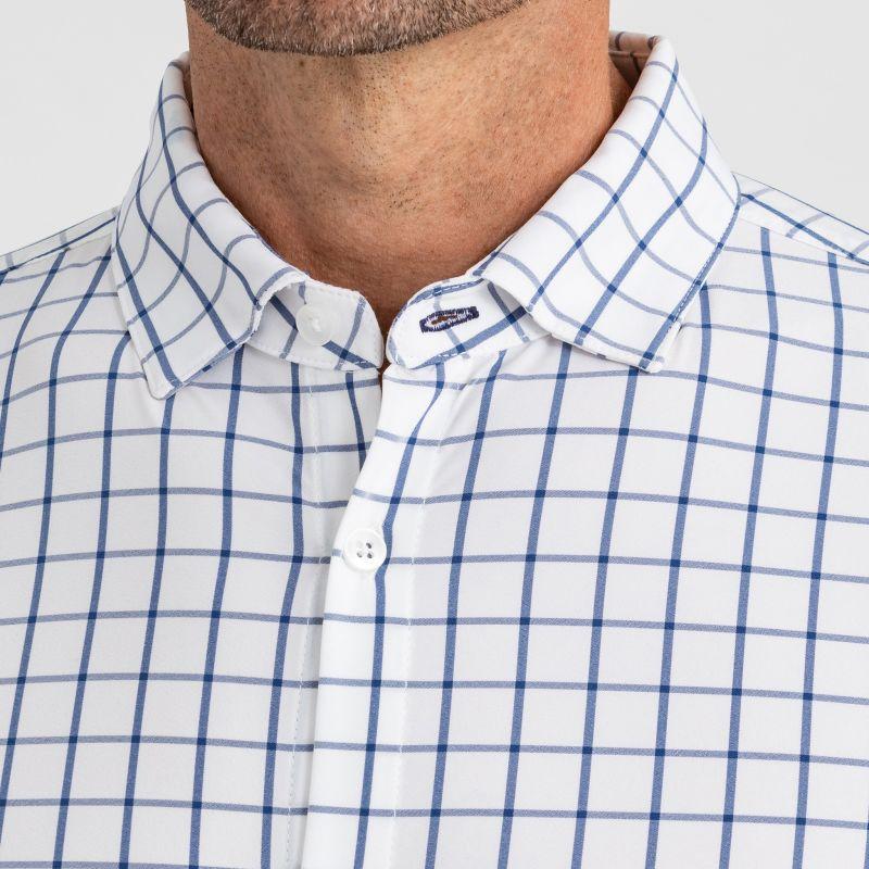Leeward Dress Shirt - Dark Blue Windowpane, lifestyle/model