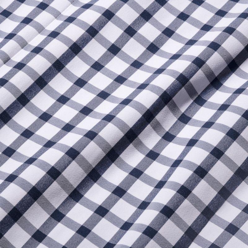 Leeward Short Sleeve - Navy Large Check, fabric swatch closeup